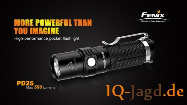 Fenix PD25 Cree XP-L V5 LED Taschenlampe mit Bonus USB Akku