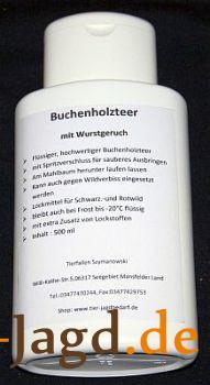 Buchenholzteer mit Wurstgeruch 500ml