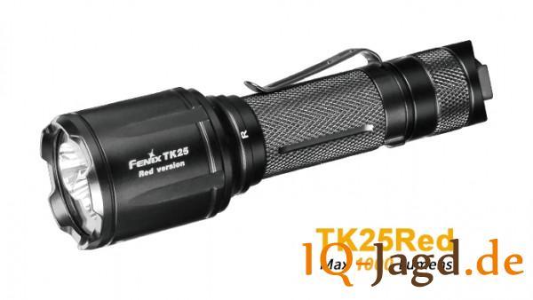 Fenix TK25Red rote und weiße LED Taschenlampe mit Akku und Kabelschalter
